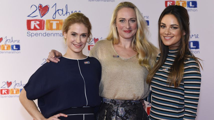 Lea Marlen Woitack, Eva Mona Rodenkirchen und Janina Uhse beim RTL Spendenmarathon 2015