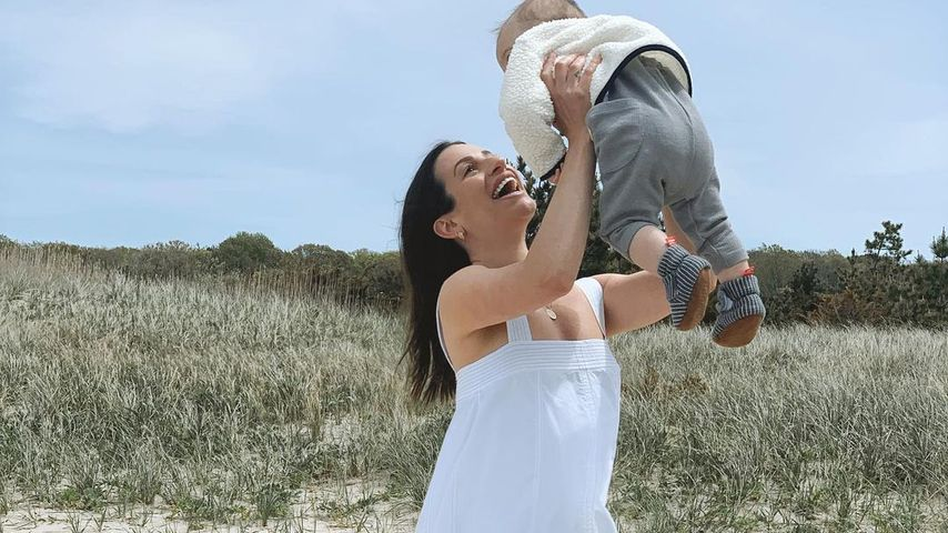 Lea Michele mit ihrem Sohn