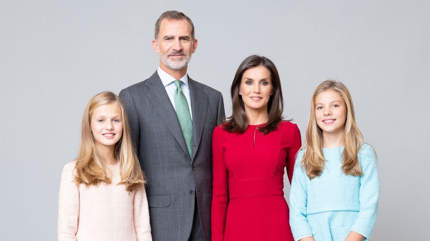 Total adrett: Neue Familien-Porträts der spanischen Royals