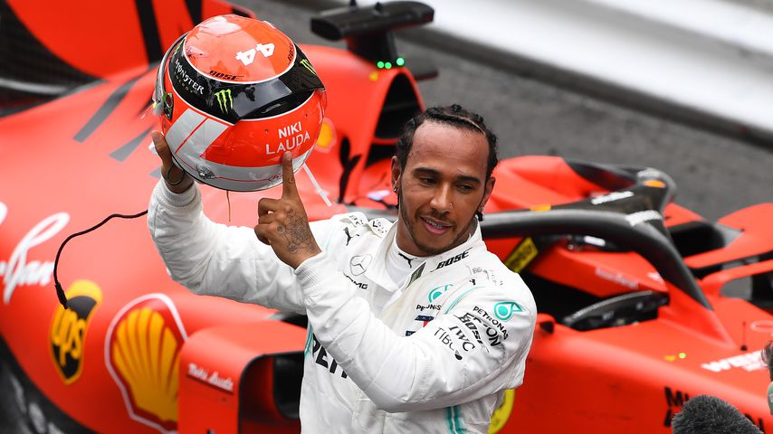 Lewis Hamilton nach seinem Sieg in Monaco