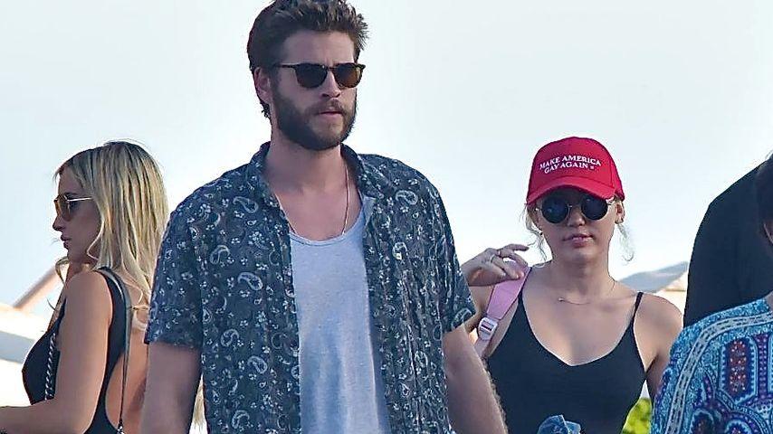 Liam Hemsworth und Miley Cyrus auf dem Weg zum Lunch in Los Angeles