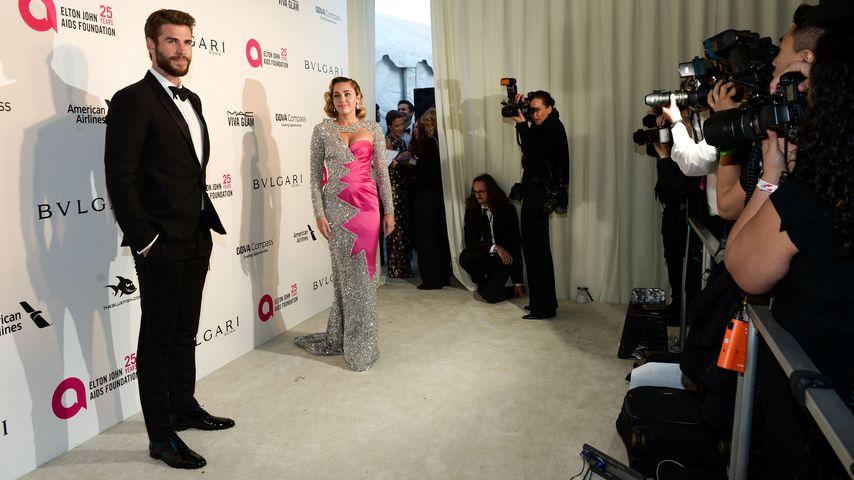 Liam Hemsworth und Miley Cyrus im März 2018