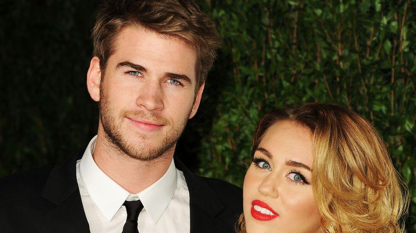 Liam Hemsworth und Miley Cyrus bei der Vanity Fair Oscar Party 2012