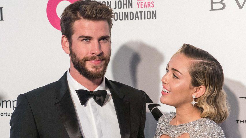 Liam Hemsworth und Miley Cyrus auf einem Event in Hollywood