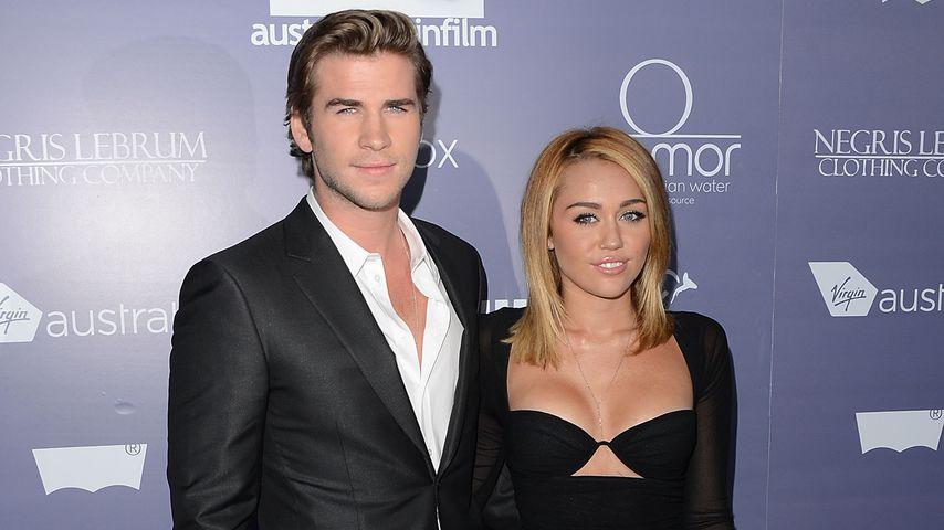 Liam Hemsworth und Miley Cyrus 2012