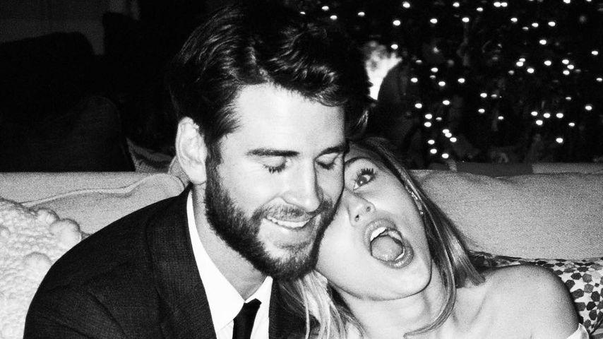 Liam Hemsworth und Miley Cyrus an ihrem Hochzeitstag