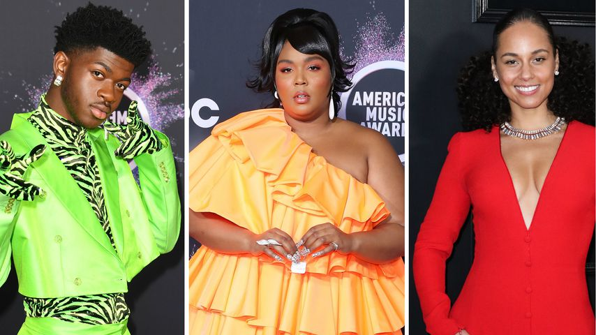 Lil Nas X, Lizzo und Alicia Keys, November 2019