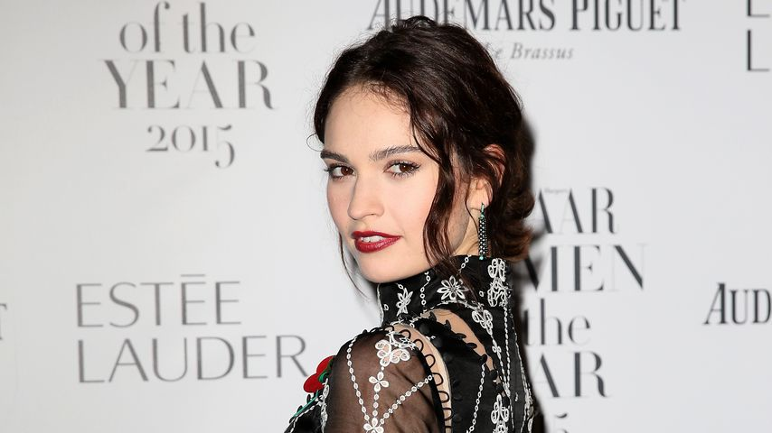 Lily James in London, 2015