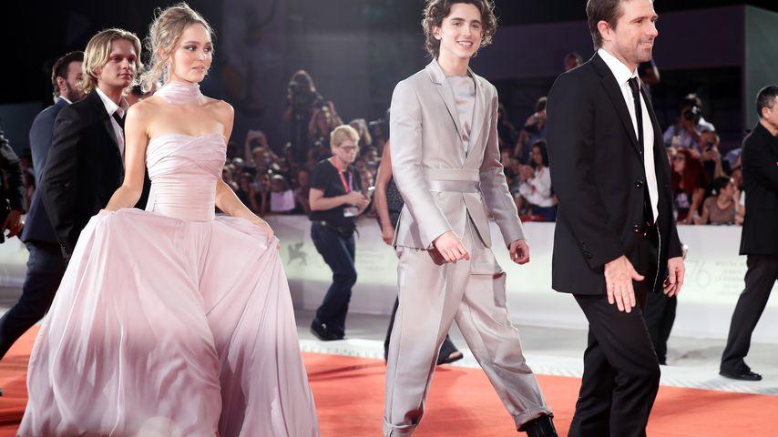 Lily-Rose Depp und Timothée Chalamet bei den Filmfestspielen in Venedig