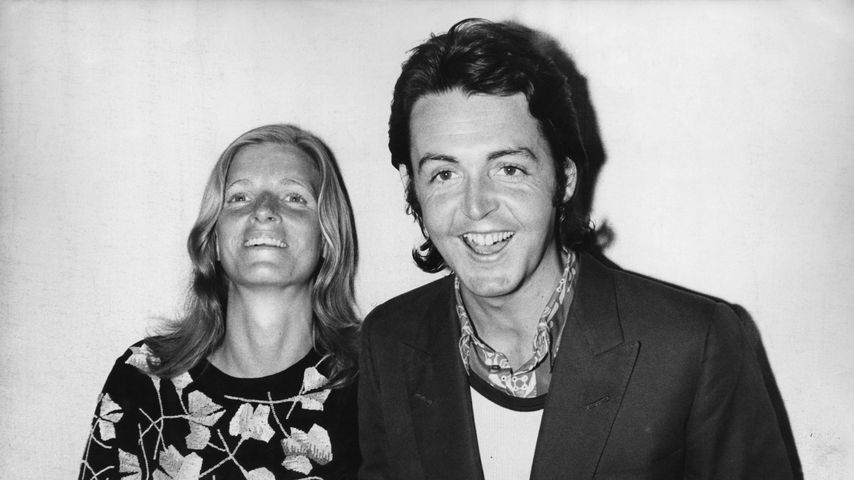 Linda und Paul McCartney bei den Grammy Awards, 1971