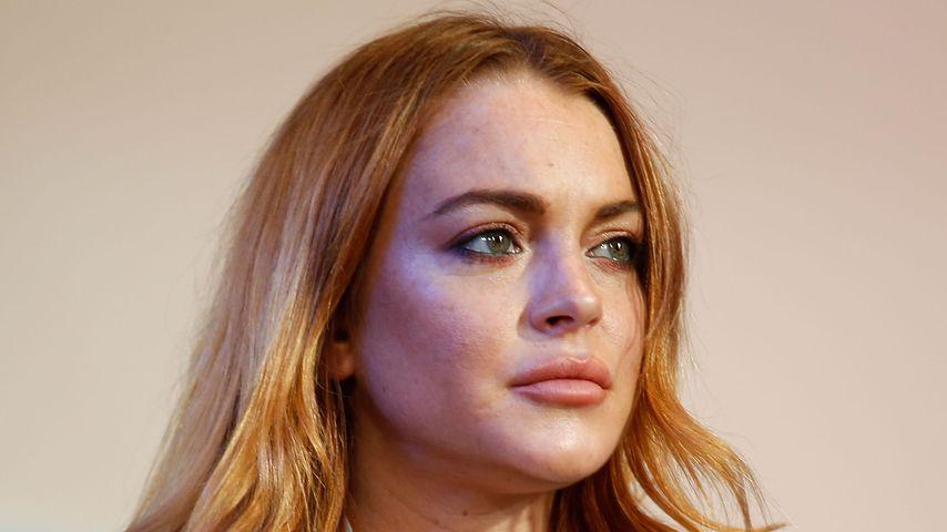 Lindsay Lohan bei einer Pressekonferenz