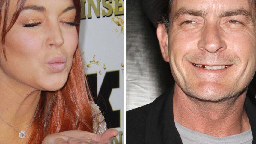 Lindsay Lohan ekelt sich vor Charlie Sheens Lippen