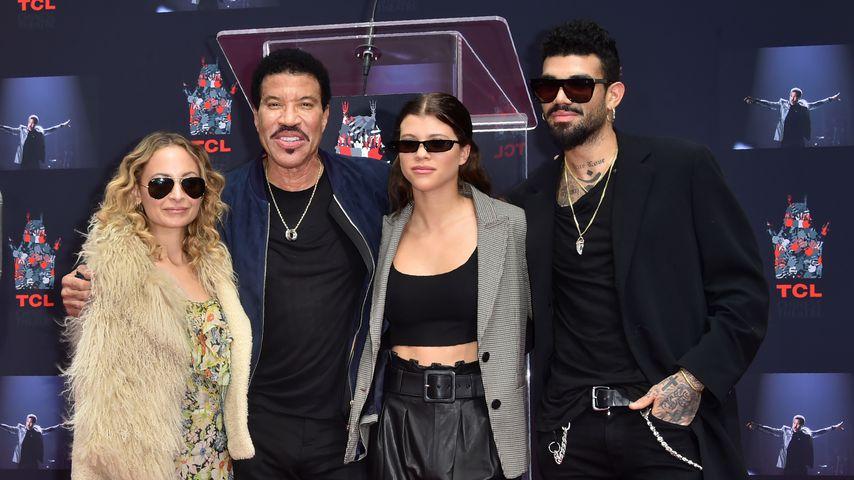 Lionel Ritchie mit seinen Kindern Nicole und Sofia 2018 in Hollywood