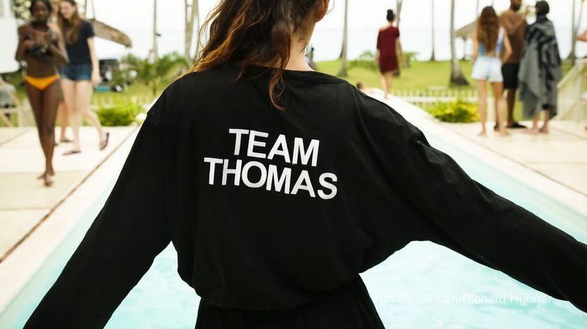 Lis Kanzler im Team Thomas-Bademantel bei GNTM