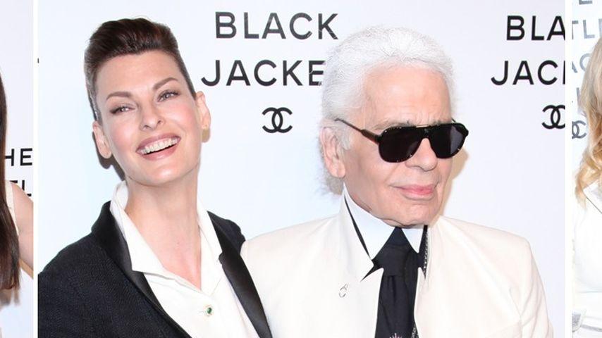 So schwarz-weiß war Karl Lagerfelds Chanel-Party!