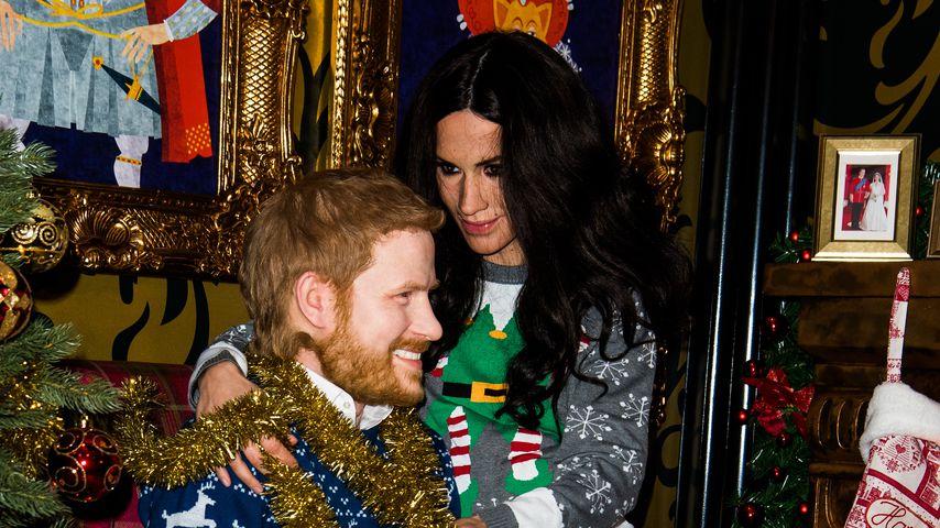 In kitschigen Xmas-Pullis: Harry & Meghan etwa in Berlin?