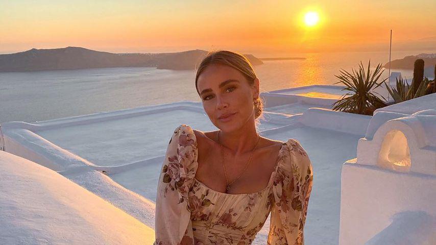 Liz Kaeber auf Santorini