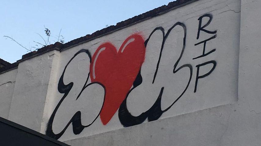 """Lou RIP""-Mural für Louella Michie"