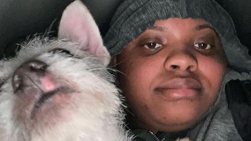 Lovely Peaches mit ihrem Hund Max