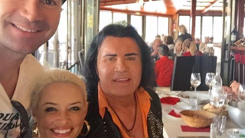 Lucas und Costa Cordalis zusammen mit Daniela Katzenberger
