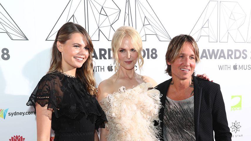Lucia Hawley, Nicole Kidman und Keith Urban bei den Aria Awards 2018