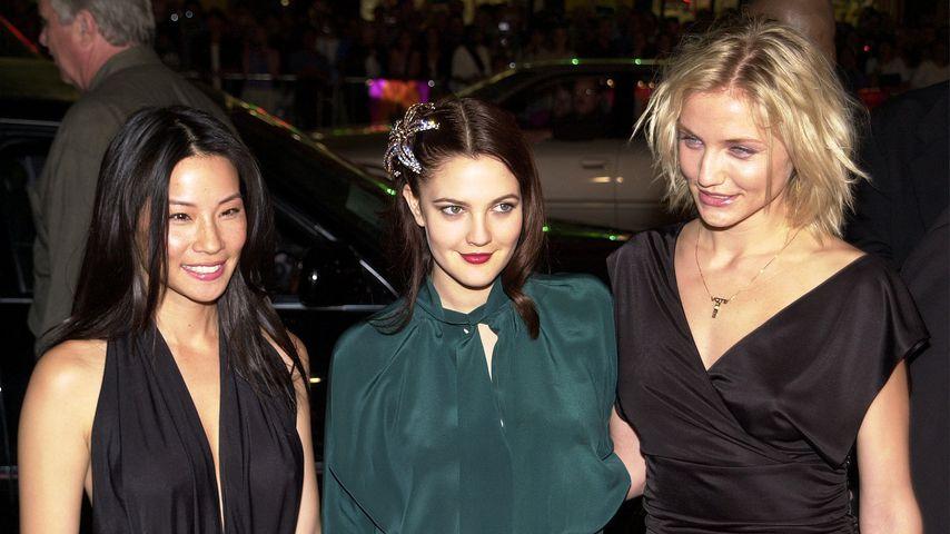 """Lucy Liu, Drew Barrymore und Cameron Diaz bei der Premiere von """"3 Engel für Charlie"""", 2000"""