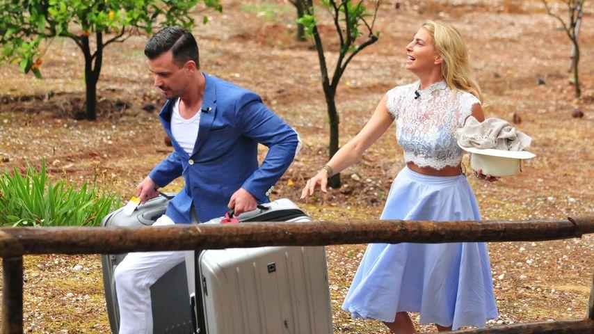 Ludwig Heer und Giulia Siegel beim Einzug ins Sommerhaus der Stars