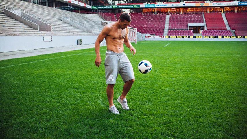 Lukas Podolski im RheinEnergieStadion in Köln