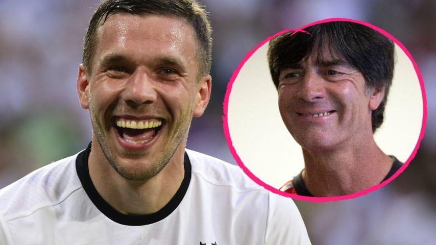 Nach Schritt-Grabscher: Poldi nimmt Joachim Löw in Schutz!