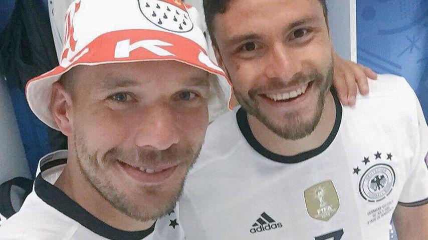 Lukas Podolski und Jonas Hector nach dem Viertelfinal-Sieg bei der EM 2016