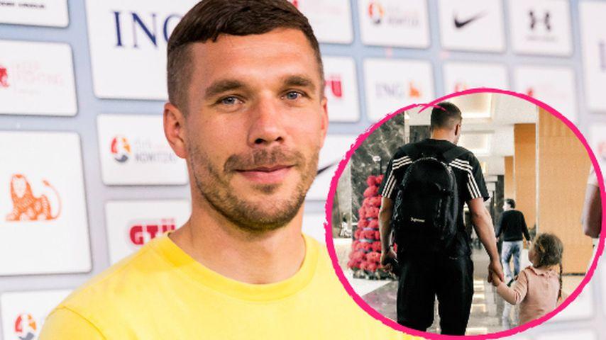 Lukas Podolski bezaubert mit neuer Papa-Tochter-Aufnahme