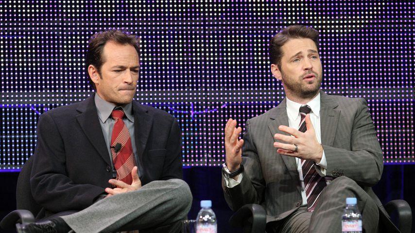 "Luke Perry und Jason Priestley bei ""Goodnight for Justice"", 2011"