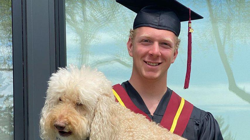 Luke Prokop mit seinem Hund