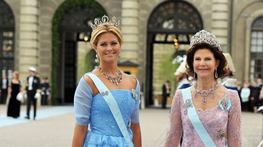 Madeleine von Schweden und Königin Silvia bei der Hochzeit von Kronprinzessin Victoria im Juni 2010