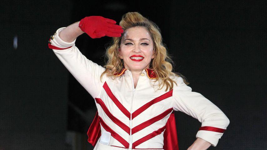 Madonna bei einem Auftritt in Moskau, August 2012
