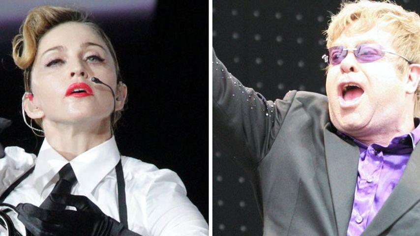 Madonna verzeiht Elton John ohne Entschuldigung!