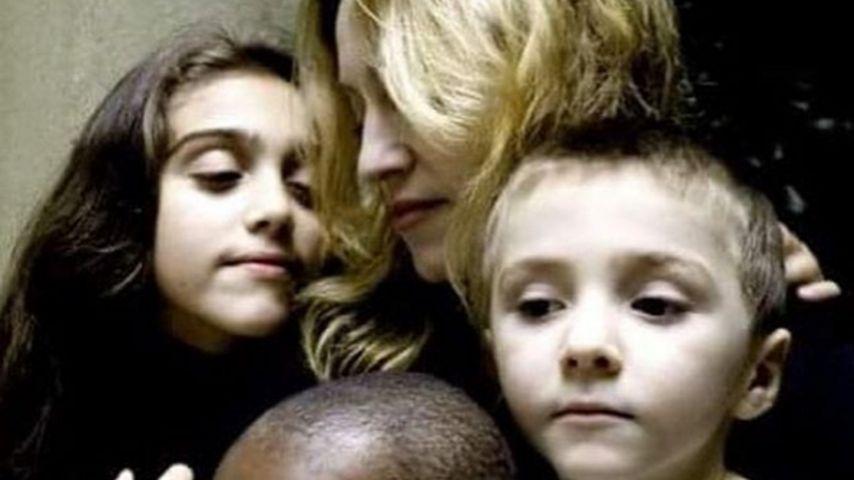 Madonna und ihre Kinder Lourdes, Mercy und Rocco