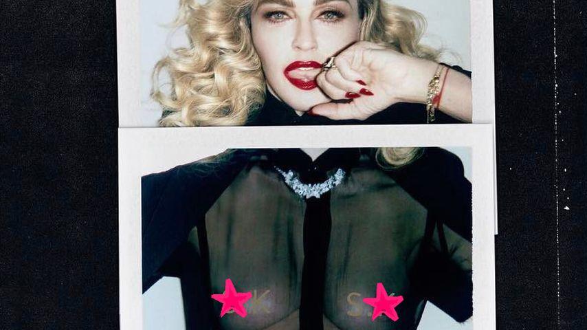 Mit 58 Jahren: Madonnas Nippel-Show auf dem Vogue-Cover