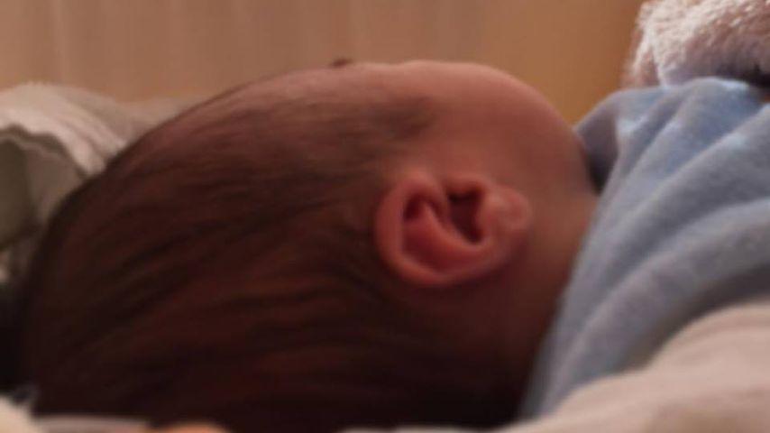 Josef, Magdalena Neuners Sohn, kurz nach seiner Geburt am 7. November 2016