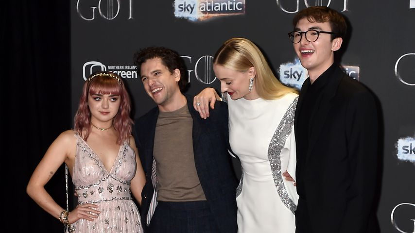 Maisie Williams, Kit Harington, Sophie Turner und Isaac Hempstead-Wright