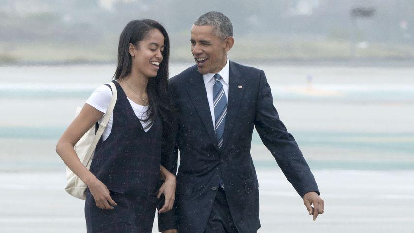 Malia mit ihrem Vater Barack Obama im April 2016