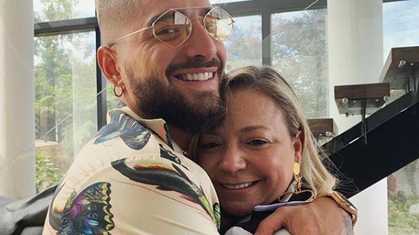 Sänger Maluma mit seiner Mutter, Mai 2019