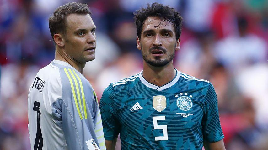 Manuel Neuer und Mats Hummels bei der WM 2018