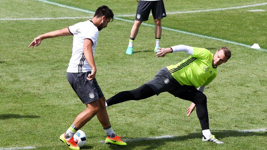 Manuel Neuer und Sami Khedira trainieren mit dem DFB-Team
