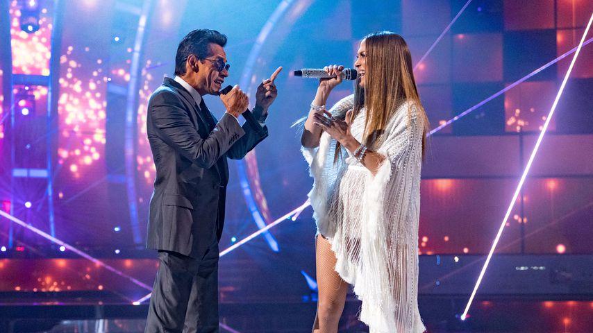 Marc Anthony und Jennifer Lopez im Jahr 2016 bei einer Show in Las Vegas