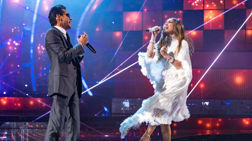 Marc Anthony und Jennifer Lopez bei den Grammys 2016