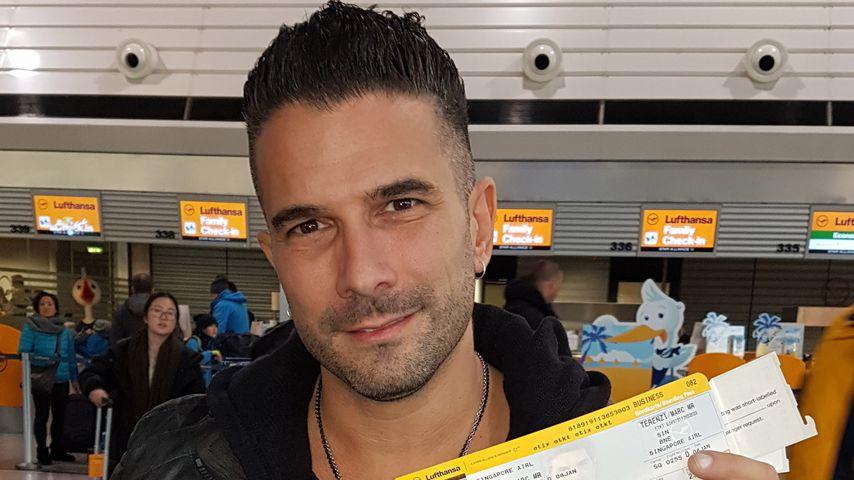Marc Terenzi am Flughafen Frankfurt/Main