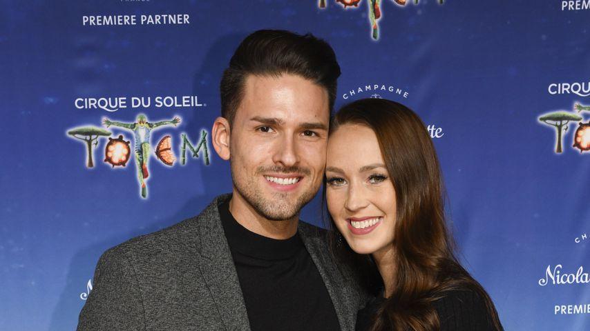 Marco Cerullo und Christina Grass bei der Premiere von Cirque du Soleil - Totem