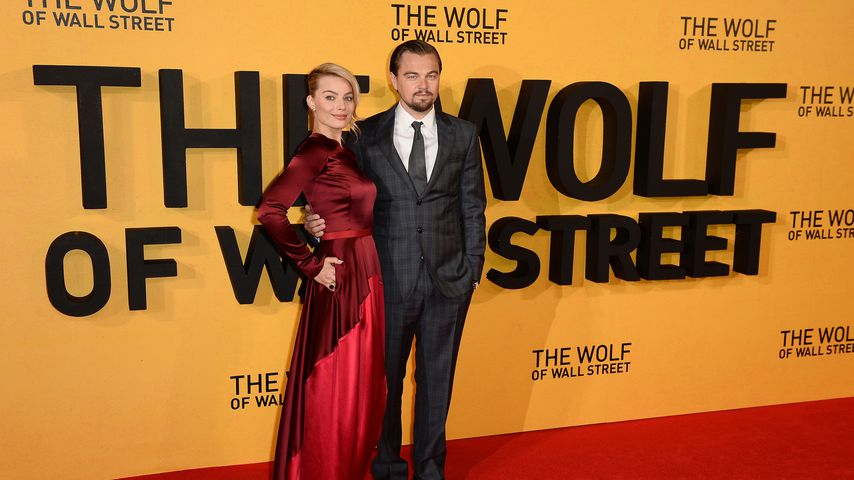 Margot Robbie und Leonardo DiCaprio bei der Premiere von The Wolf of Wall Street in London 2014