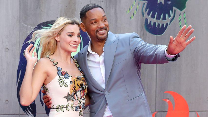"""Margot Robbie und Will Smith bei der """"Suicide Squad""""-Premiere 2016"""
